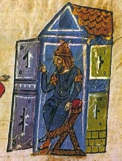 رسمة بيزنطية للخليفة المعتصم بالله