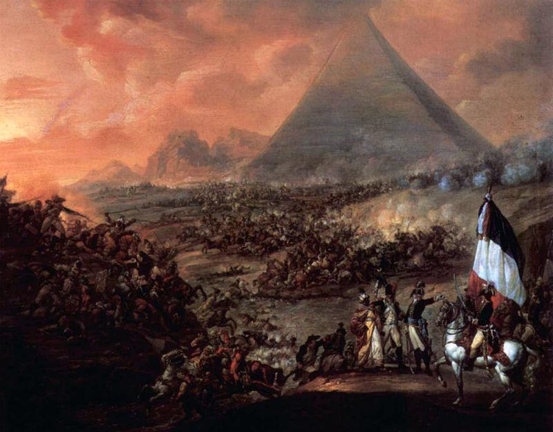 لوحة معركة الأهرام بريشة فرانسيز لويس جوزيف
