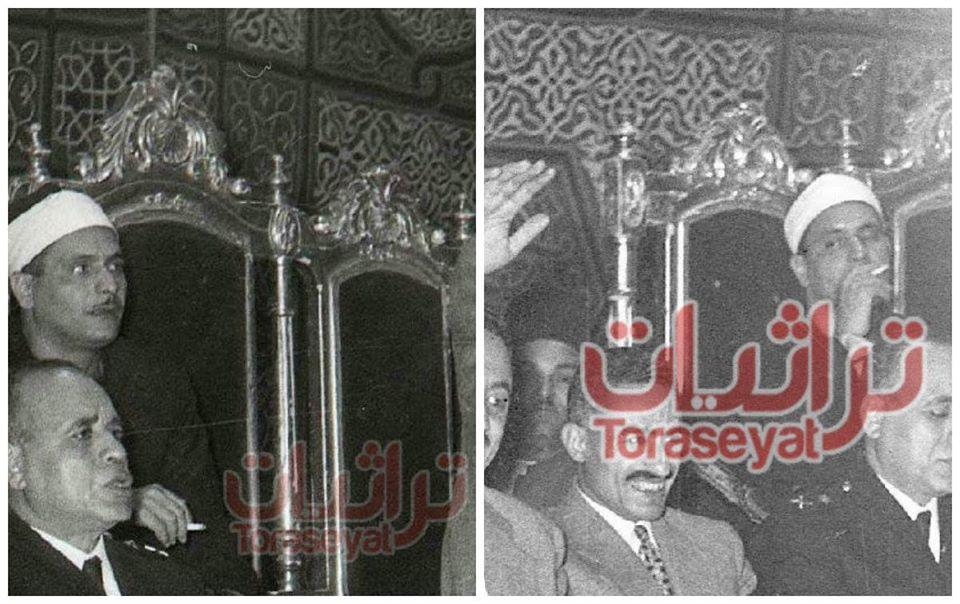 الشيخ كامل يوسف البهتيمي مدخنًا
