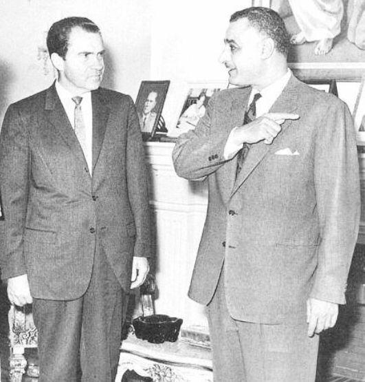 جمال عبدالناصر ونيكسون