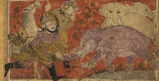 رسمة تعبيرية لحملة عام الفيل