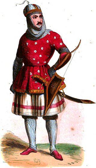 رسم لجندي مملوكي