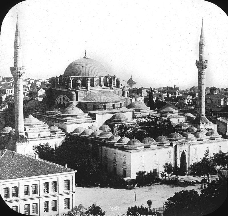 صورة نادرة لمسجد بايزيد الثاني حيث مقر دفنه