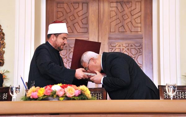 عدلي منصور في المولد النبوي