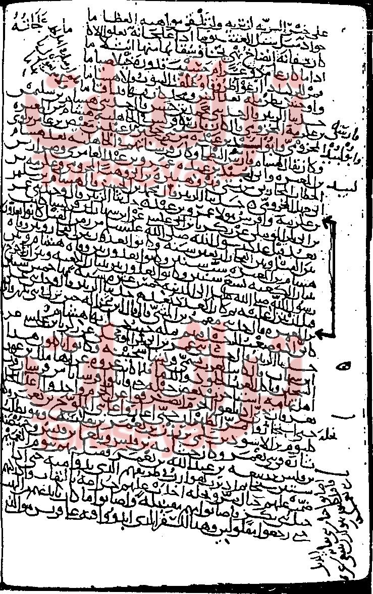 مخطوط الزبير بن بكار والسهم يشير إلى ما استدل به مائير يعقوب