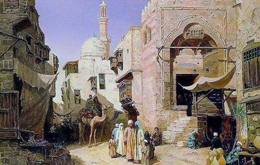 منظر للقاهرة الفاطمية في عصر علي بن عز الدين أيبك