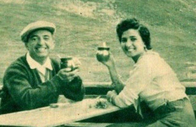 حسين فوزي ونعيمة عاكف