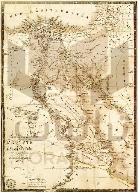 خريطة عامة لمصر وبلاد العرب الصخرية