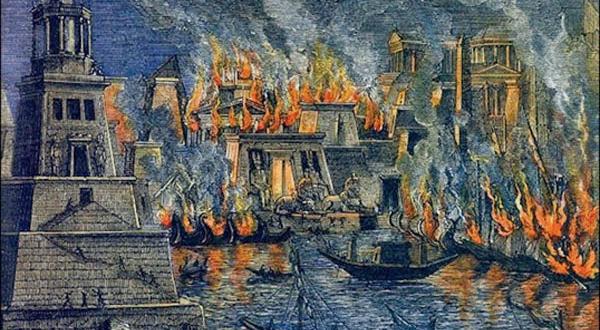 حريق مكتبة الاسكندرية