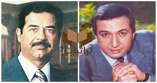 نور الشريف وصدام حسين